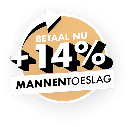14% Mannentoeslag embleem website
